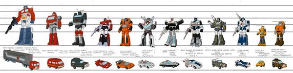Entrevues en français et anglais de Flint Dille, Bob Budiansky, Bryce Malek, Peter Cullen, Frank Welker et bien d'autres sur Les Transformers (G1) - Page 3 2013_03_23_Autobots_line-up
